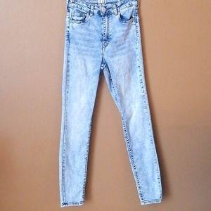 Urban planet Cali ultra high rise  skinny jeans